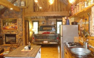 Hillbilly Hiltin Cabin Kitchen Bedroom