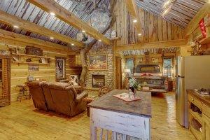 Hillbilly Hiltin Cabin Interior