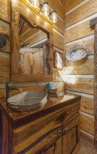 Hillbilly Hiltin Cabin Bathroom Sink