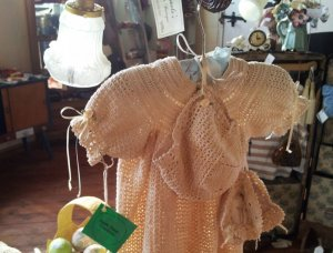 A lacy blouse