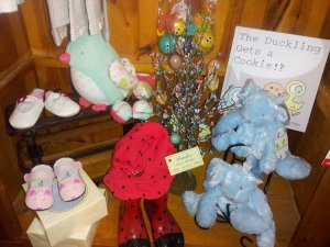 Stuffed animals and shoes