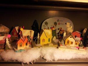 A miniature village decoration