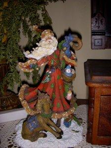 A Santa Claus decoration