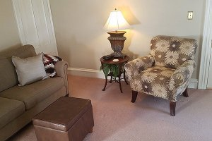 Sitting room and loveseat