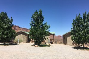 Moab Rim Campark Camping Cabins exterior trees