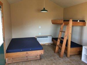 Moab Rim Campark Camping Cabins interior bunks