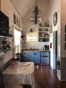 Bigscreen TV and kitchen