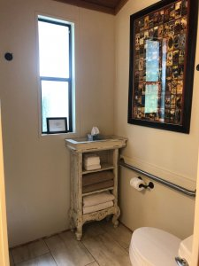 Bathroom end table