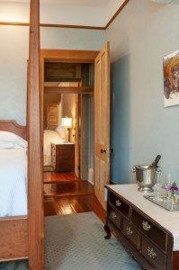 Room #4 door and adjoining hallway
