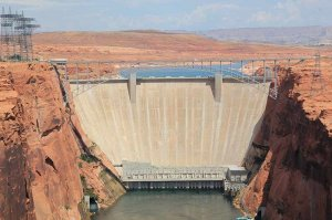 arial view of Glen Canyon Dam
