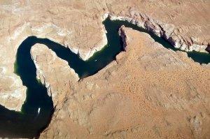 arial view of lake powel