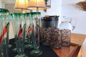 handmade chili pepper glassware from Mexico