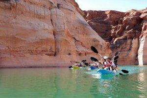 kayak in canyon
