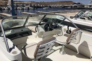 view of drivers seat on ski natique boat rental