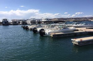 Fleet of 19' Open-bow Ski Boats in the water, fuel and ready to go