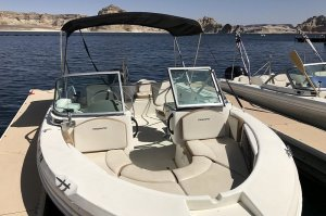 bow of 19' Open-bow Ski Boat Rental on Lake Powell