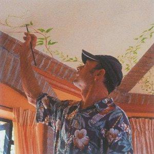 Villa del Faro man painting celing