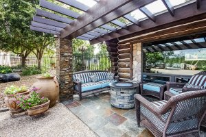 Patio Pergola and Firepit