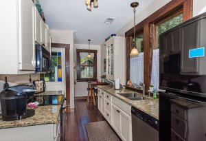 kitchen counter and appliances