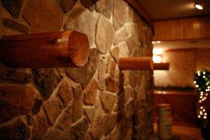 log shelves