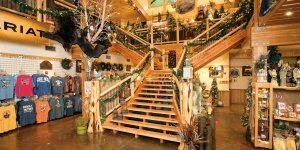 Gift Shop log staircase