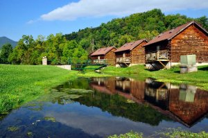 Cabins by water