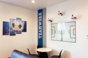 Shooters Soccer Club Facility party team room