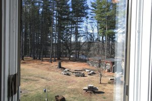 Old Saco Inn Blue Room view from window