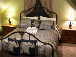 Wrought Iron Bed Near Window