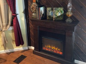 Fireplace and mGold Creek Inn Empire Suite Showerantle with pictures