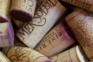 corks labelled by vineyard