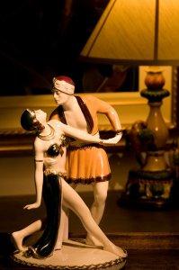 figurines of dancing couple