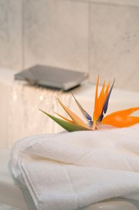 flower on a towel