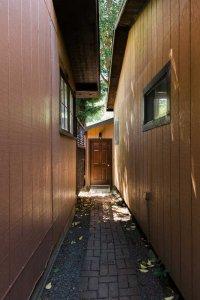 walkway between cabins