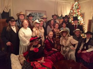 Murder Mysteries New Years Eve group in living room