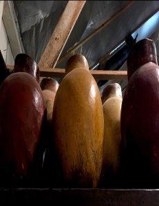 large terracotta vases