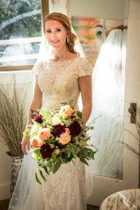 Bride with boquet