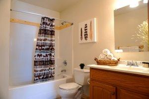 Bathroom and Shower Curtain