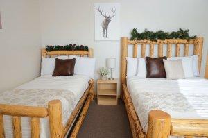 Bed with Elk Art