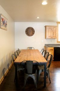 Diningroom table with seating for ten