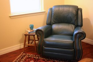 leather lazy boy chair