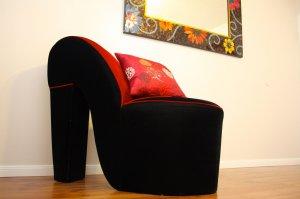 high heel shaped seat