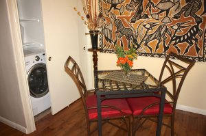 dining table and washing machine closet