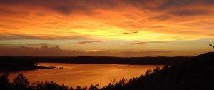 The lake during sunset