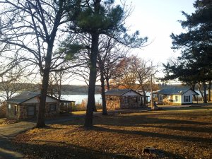 Cottages next to the lake