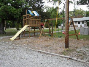 The park with a slide