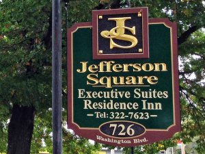 Jefferson Square Executive Suites Sign