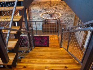 Wood Floor with Stairs