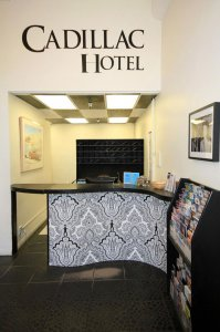 Cadillac Hotel Decorative front desk