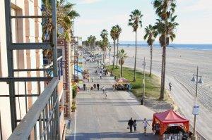 Street view beside beach
